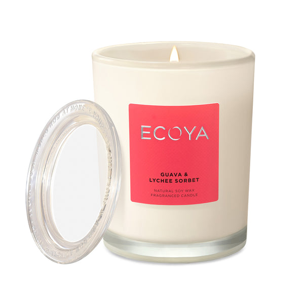 Guava & Lychee Sorbet Scented Candle Jar