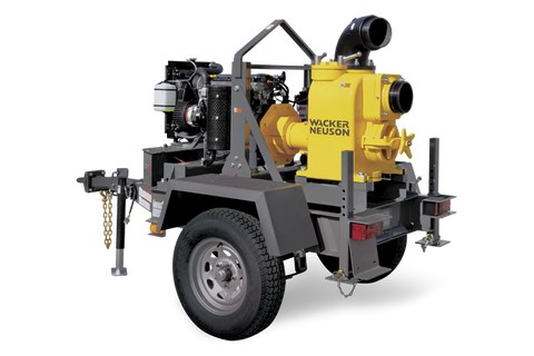 "WACKER NEUSON 6"" SELF PRIMING CENTRIFUGAL TRASH PUMP W/2-5/16"" BALL HITCH (KIT) PT6LT SKU# 5200017433"
