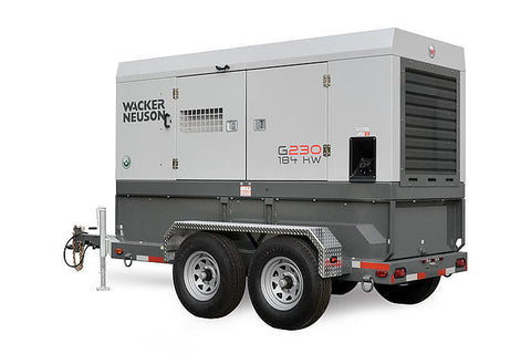 Wacker Neuson G230 Mobile Generator 184kW Cummins Tier 4F, Cold Weather Pkg. 5200010142