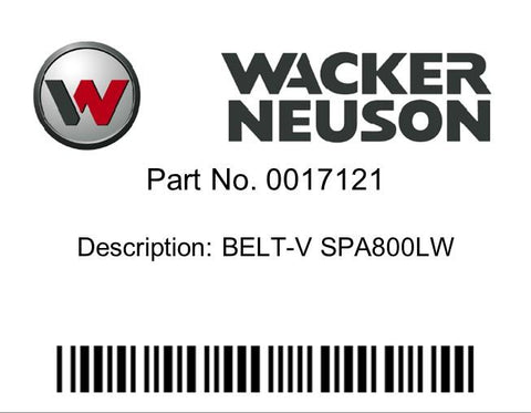 Wacker Neuson : BELT-V SPA800LW Part No. 0017121