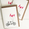 I Love You Bicycle Card
