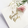 A Thousand Thanks Card