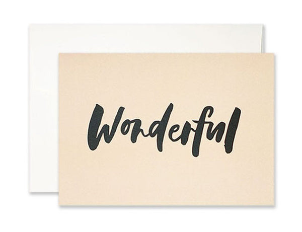 Wonderful Card
