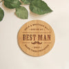 Original Will you be my Best Man Wooden Coasters