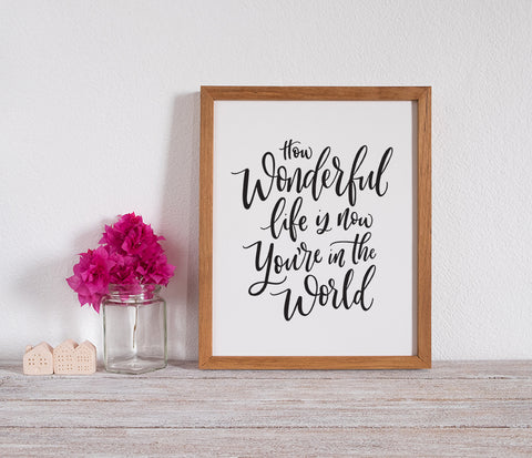 How Wonderful Life is Print