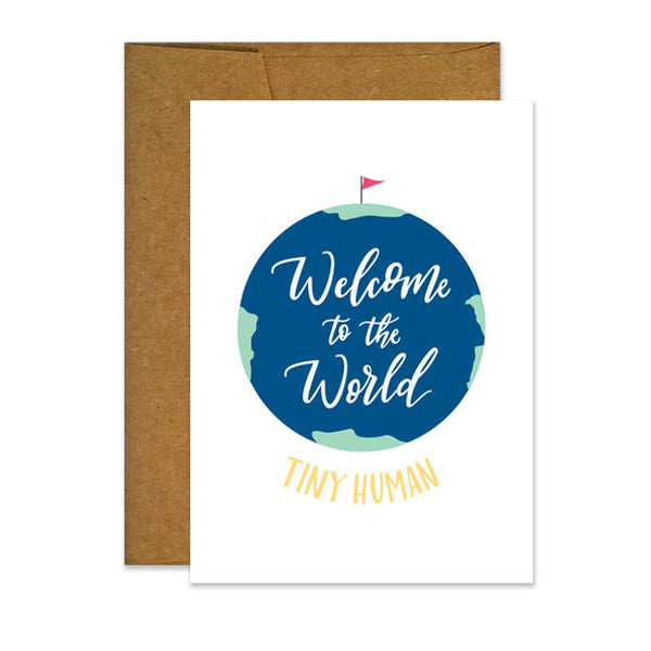 Welcome to the World Tiny Human Card