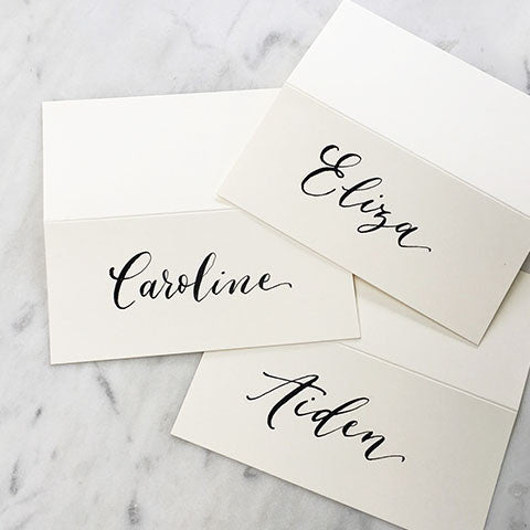modern calligraphy placecards frankie s girl