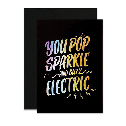 You Pop Sparkle and Buzz Electric Card