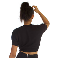 Anita 100% Cotton French Terry Crop - Black