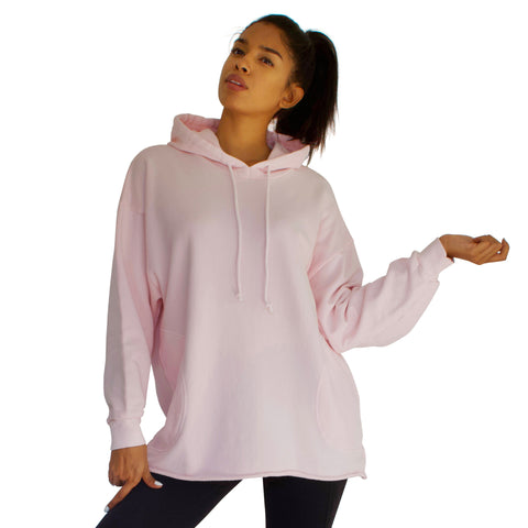 Comfy & Cozy French Terry Beach Hoodie - Candy Pink