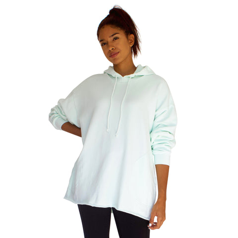 Comfy & Cozy French Terry Beach Hoodie - Mint Green