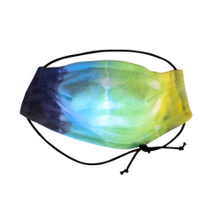 Bamboo tie dyed 5 layer face mask
