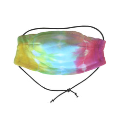 Safe and comfortable wearing our 100% cotton 5 layer Face Mask in CMYK tie dye. Soft wire upper, no rough edges.