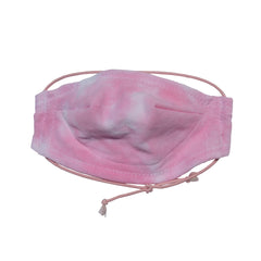 Safe and comfortable wearing our 100% cotton 5 layer Face Mask in Pink Cloud Wash. soft wire upper, no rough edges.