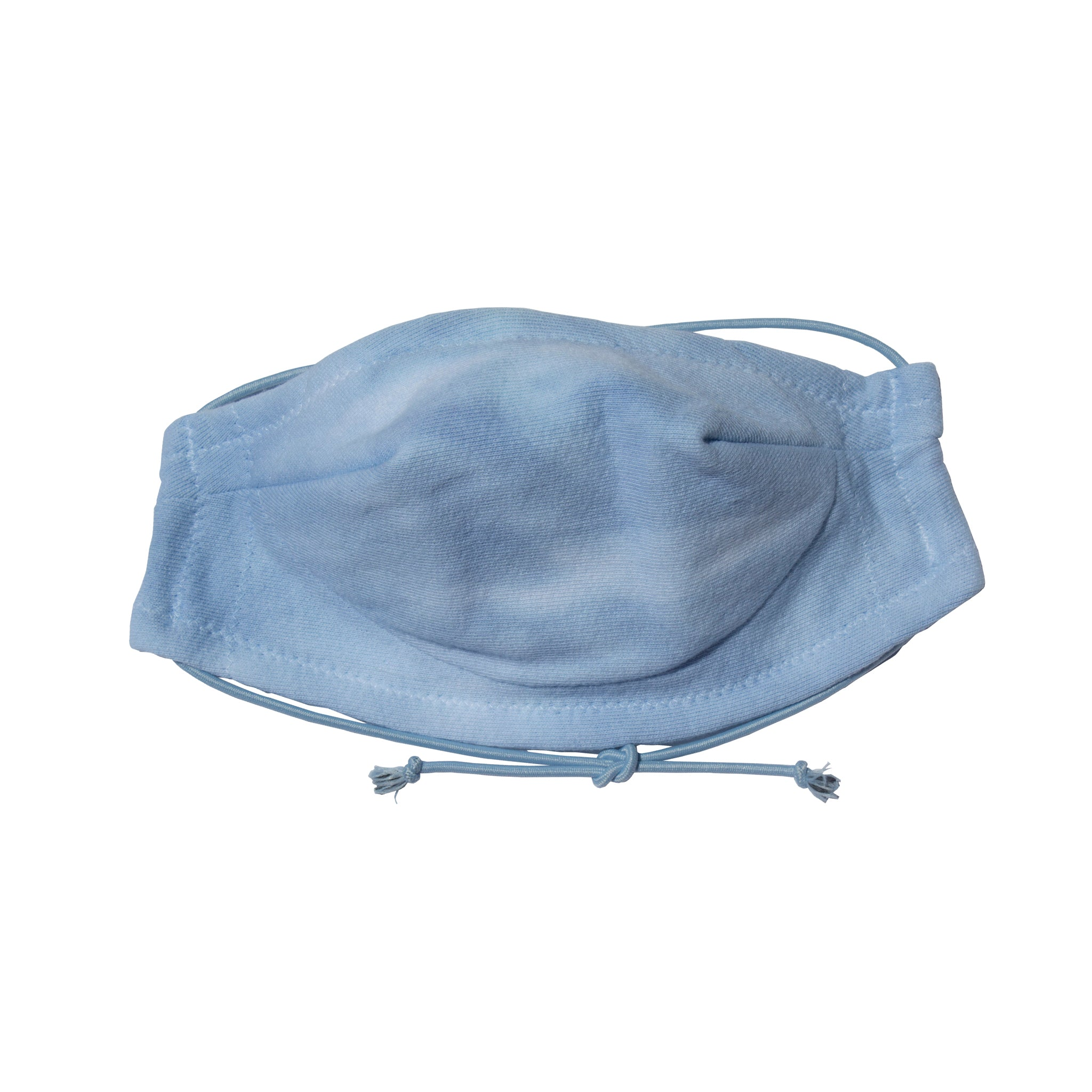 Safe and comfortable 100% cotton 5 layer Face Mask in Blue Cloud Wash. soft wire upper, no rough edges.