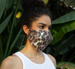 5 Layer Face Mask - Leopard Print