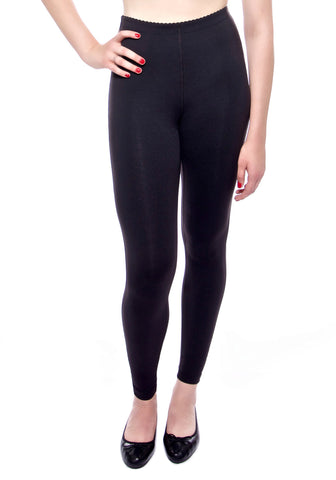Our high waisted legging in Black with hidden drawstring at waist.
