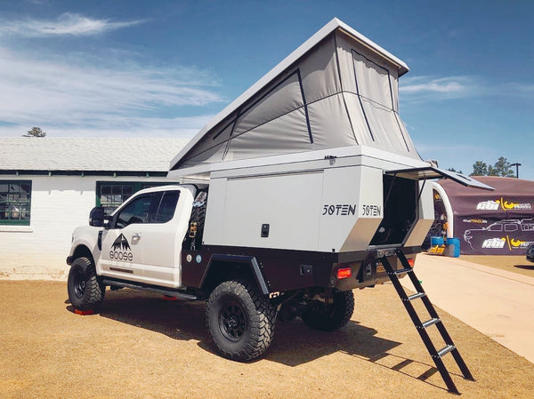 First look at the @fiftytenusa camper with Overland Journal & Expedition Portal.