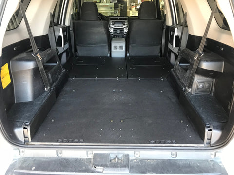 5th Gen 4Runner with third and second row delete (sleep platforms)