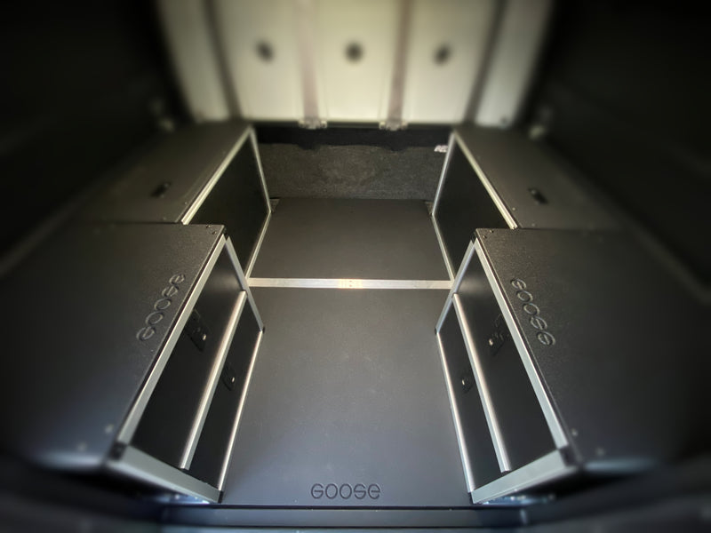 AluCab Canopy Camper Version 2.0 Full Width Module Mounting Plate Toyota Tacoma 5 Foot Bed 2005-Present 2nd and 3rd Gen