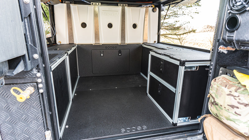 Alu-Cab Canopy Camper Version 2.0 Double Drawer Module Jeep Gladiator JT 2019-Present