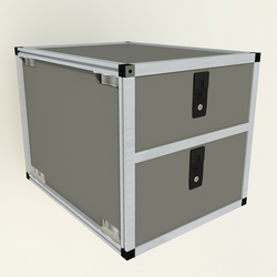 "Double Drawer Module - 19 3/16"" Wide X 28"" Depth"