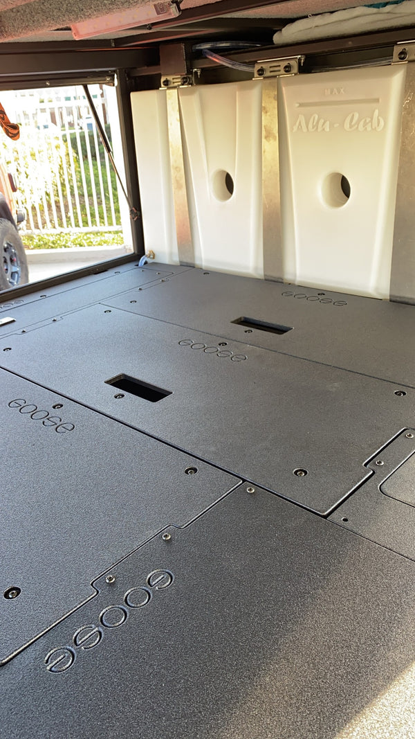AluCab Canopy Camper Sleep Decks Infill for Utility Modules for 6' Bed Trucks
