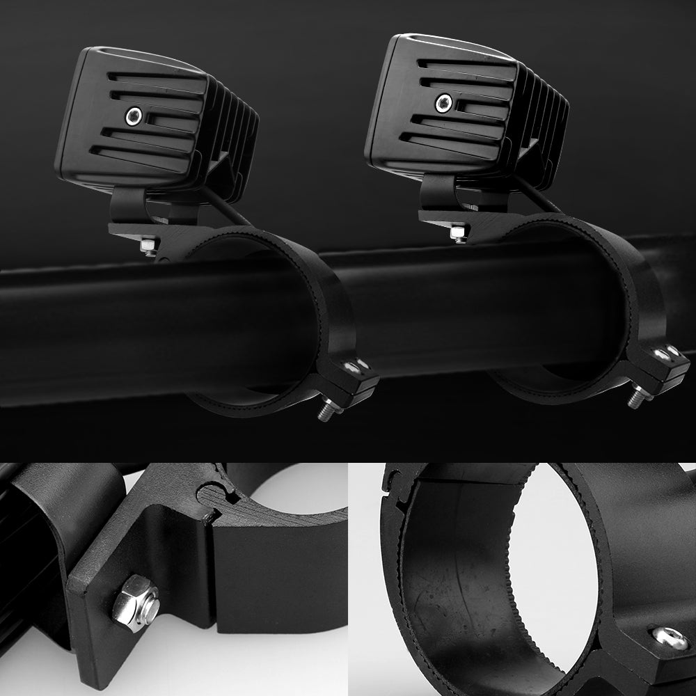 Bull Bar Brackets 49-54mm (Black)