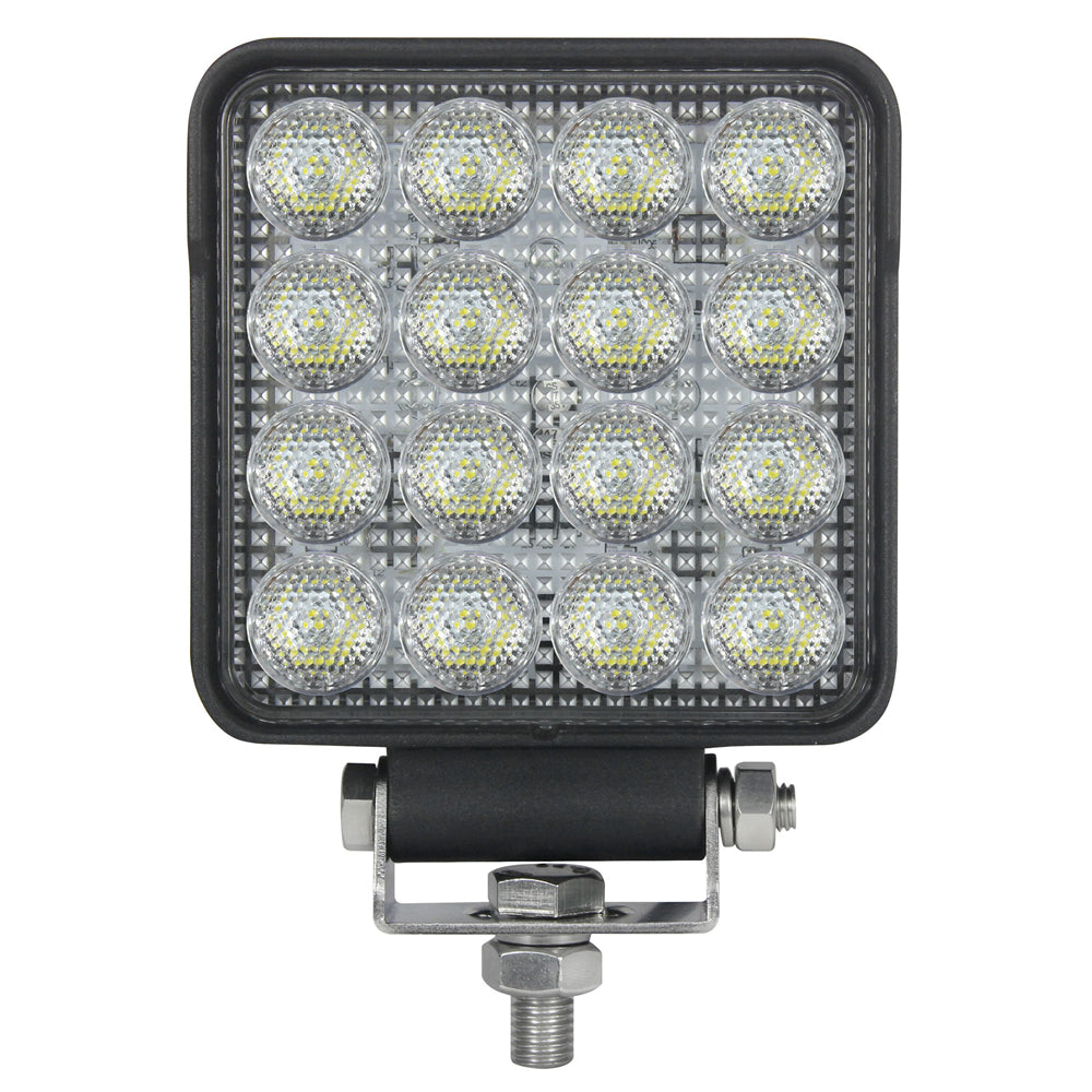 4-inch Square OSRAM LED Auxiliary Backup Reverse Work Light - 3000 Lumens