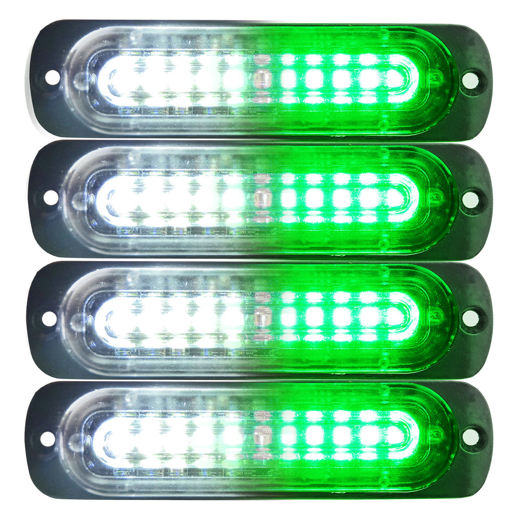 4.4-inch 10 LED Ultra Slim Strobe Lighthead - 4 Pack