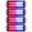 Primelux 4-pack 4.4-inch 20 LED Ultra Slim Strobe SYNC LED Lighthead