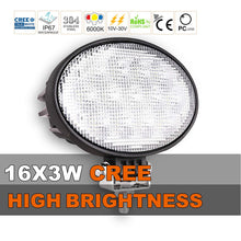 Load image into Gallery viewer, 6.5-inch Oval CREE LED Work Light - Flood Beam - 65W - 5850 Lumens