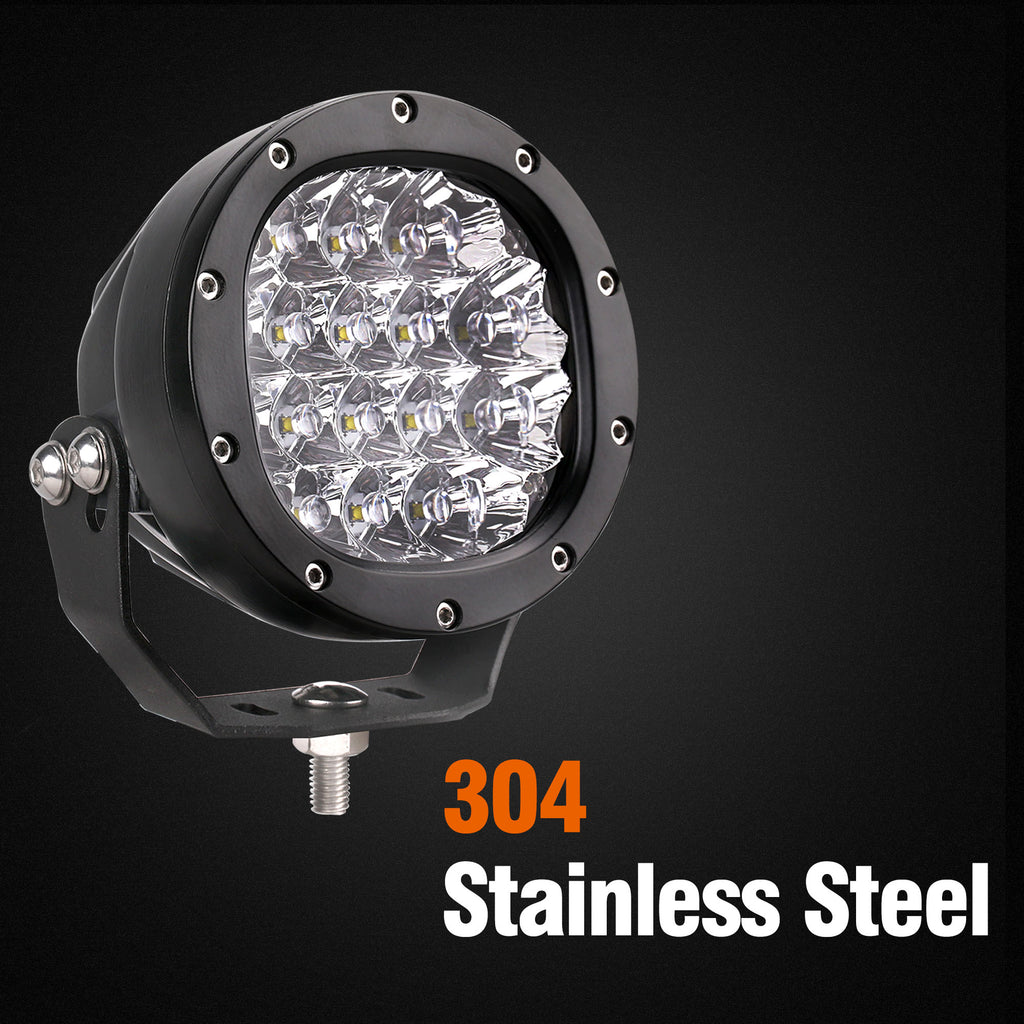 5-inch Round Off-road LED Driving Light - 16x5W CREE - 7200 Lumens
