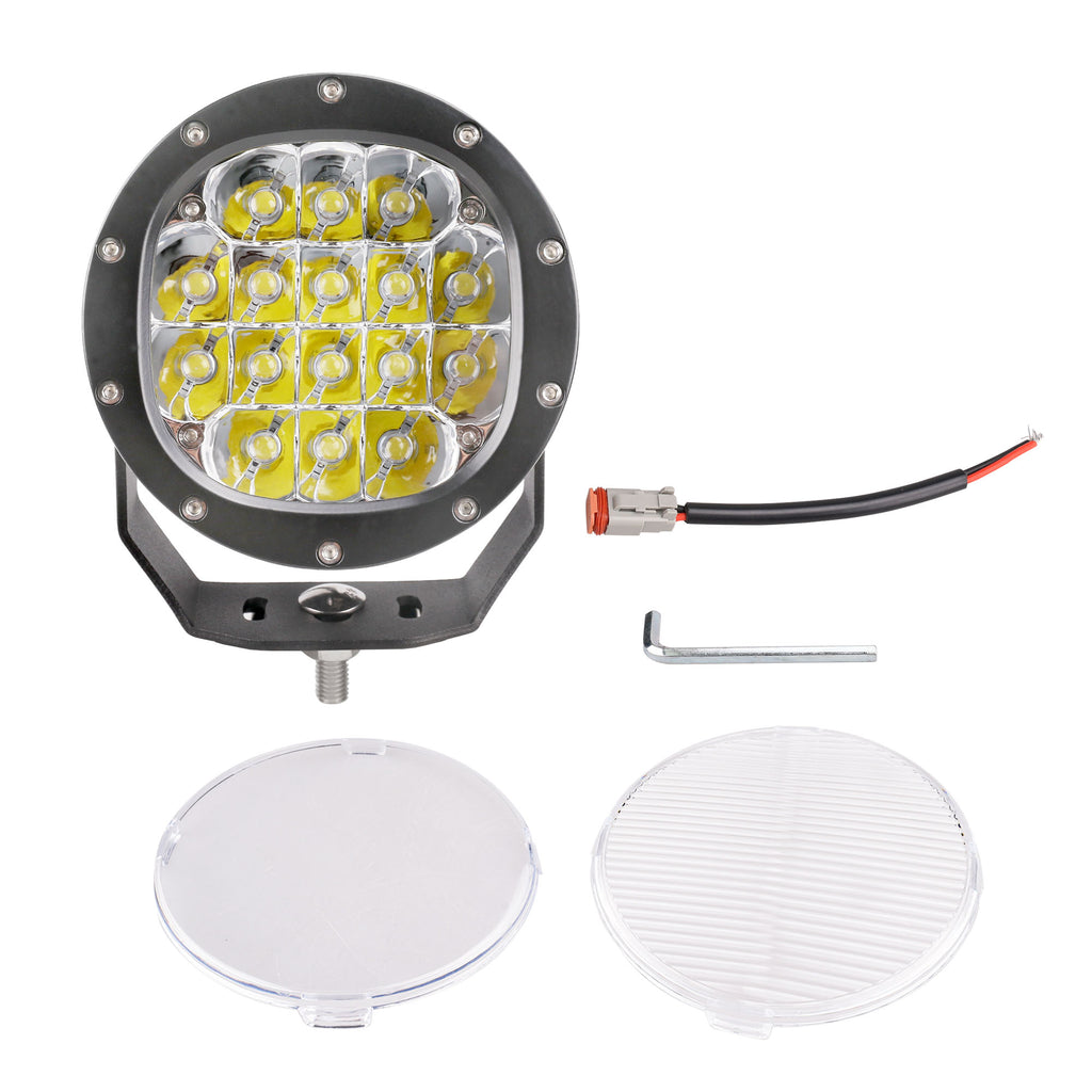 Primelux 5-inch 7200 Lumens Off Road LED Driving Light - 16x5W Cree Spot Beam