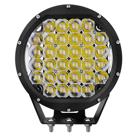 Primelux 8-inch 32x5W Round Off Road LED Driving Light - Black Ring - (Single)