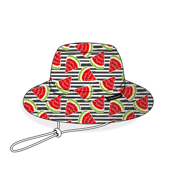 01. Watermelon Summer Bucket Hat - 3 Little Monkeys
