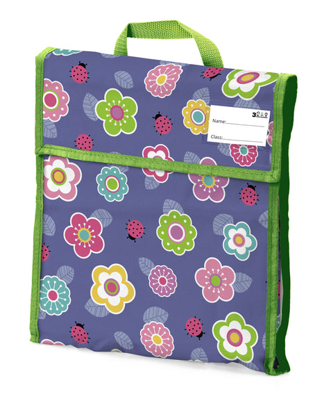 01. School Book Bag - Flower Ladybird