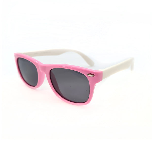 02. Flamingo (Pink White) Kids Sunglasses