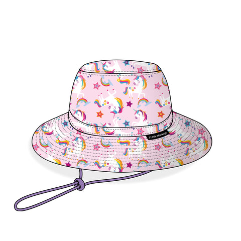 03. Unicorn Summer Bucket Hat - 3 Little Monkeys