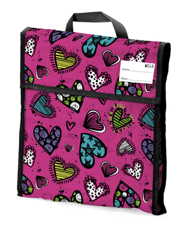 03. School Book Bag - Love Heart