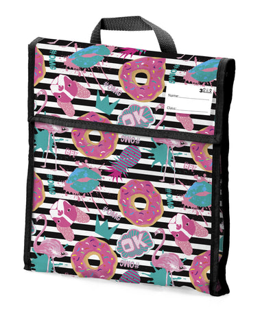 04. School Book Bag - Flamingo Donut