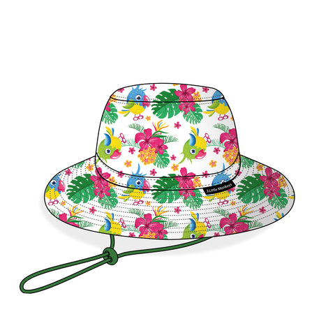 05. Parrot Summer Bucket Hat - 3 Little Monkeys