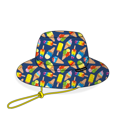 06. Ice Cream Summer Bucket Hat - 3 Little Monkeys