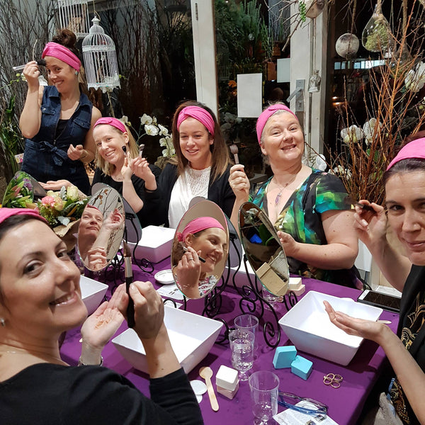 Our creative flower and pampering jucies are flowing!