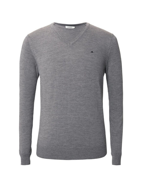 Lymann Tour Merino V-Neck Sweater - Grey