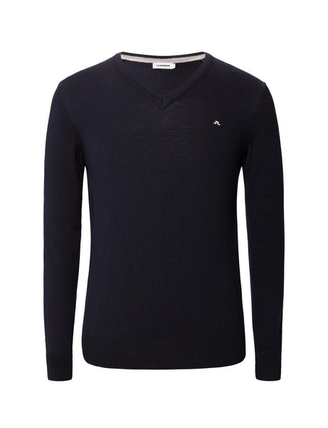 Lymann Tour Merino V-Neck Sweater - Navy