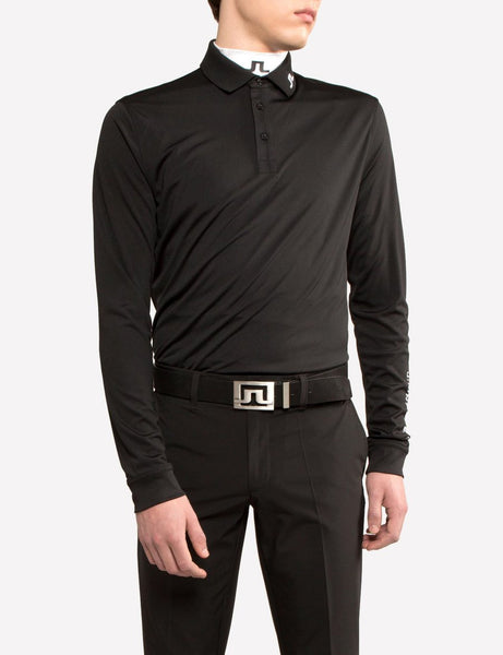 Tour Tech Reg TX Jersey Polo Long Sleeve - Black
