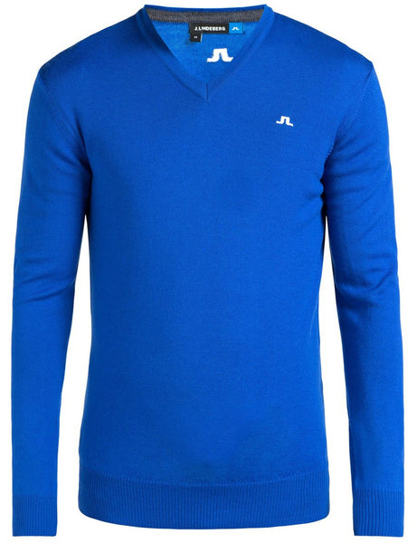 Lymann Tour Merino V-Neck Sweater - Strong Blue