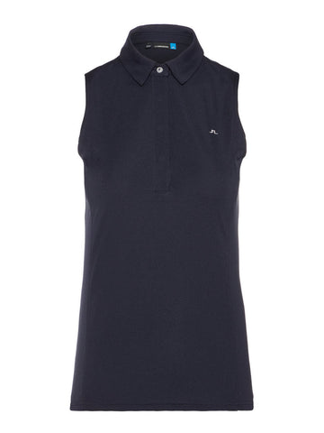 W Dena TX Jersey Sleeveless Polo - JL Navy