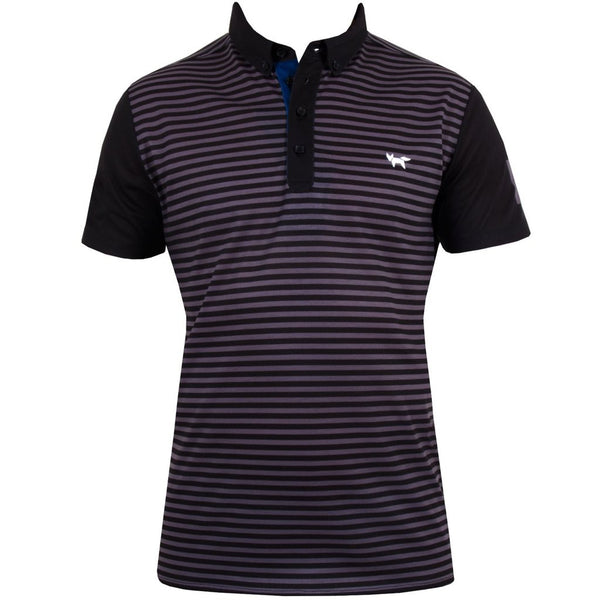 Deck Stripe Polo - Black Noir